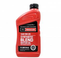 Olej silnikowy 5W20 MOTORCRAFT Synthetic Blend - 946ml (1qt)   [API SN PLUS, FORD WSS-M2C945-B1 , ILSAC GF-5]