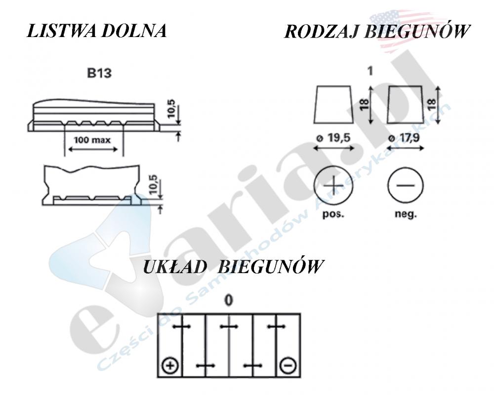 AKUMULATOR Varta BLUE DYNAMIC 12V 74Ah 680A L+ 278x175x190