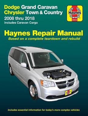 REPAIR MANUAL - Książka Naprawy CHRYSLER GRAND VOYAGER TOWN &COUNTRY 2008-2018 / DODGE GRAND CARAVAN 2008-2018 RT
