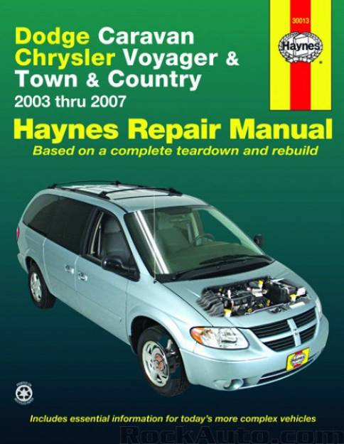 REPAIR MANUAL - Książka Naprawy CHRYSLER GRAND VOYAGER TOWN &COUNTRY 2003-2017 / DODGE GRAND CARAVAN 2003-2007 RS