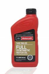 Olej silnikowy 5W20 MOTORCRAFT Full Synthetic - 946ml (1qt)   [API SN PLUS, FORD WSS-M2C945-B1 , ILSAC GF-5]