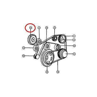 Łożysko podgrzewacza wody [55037539AA] 2.7CRD Jeep Grand